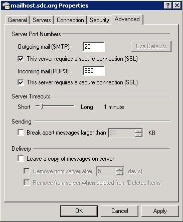 Sdc Internet Support Outlook Express 6 Mail Setup